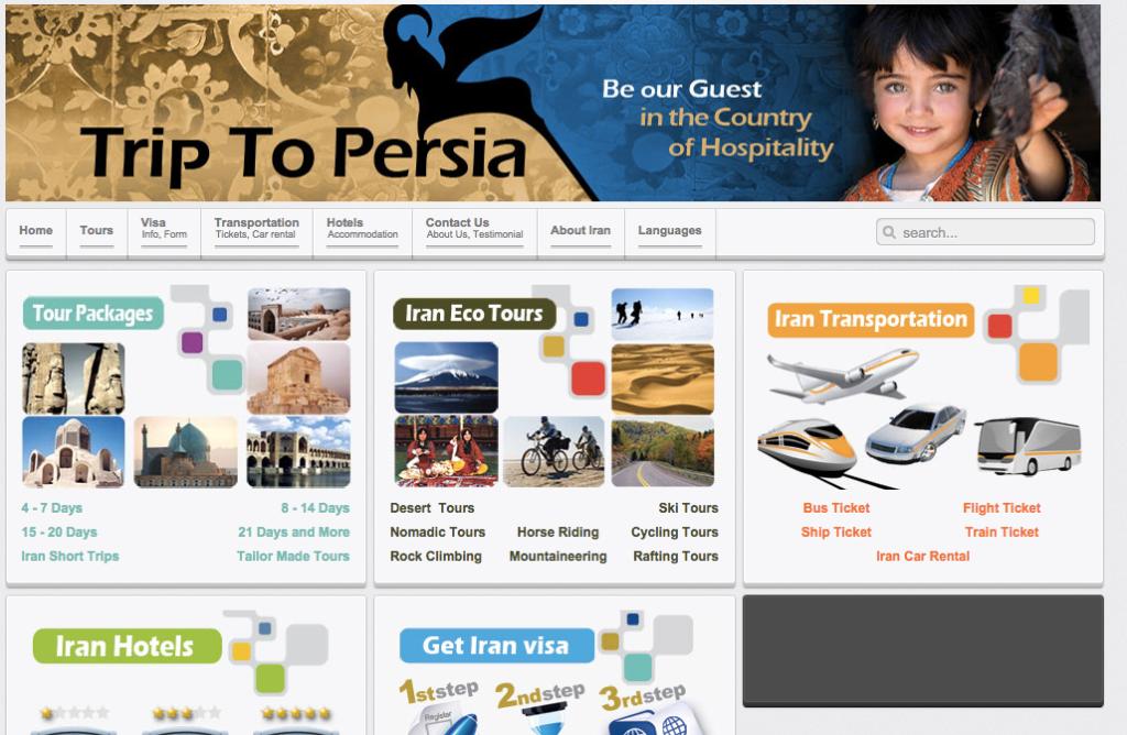 trip to persia